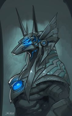 Anubis sketch by el-grimlock.deviantart.com Yeah, Anubis is still the baddest mofo in cyberspace. This very much has a UT2k4 vibe to it.