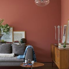 Red Bedroom Walls, Red Walls, Farrow And Ball Living Room, Living Room Red, Asian Home Decor, Moving House, Farrow Ball, Sweet Home, Sustainable Architecture