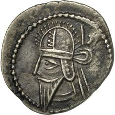 Unfortunately, this collectible item is no longer available ! ➽ Ask us to find it for you : Parthia (Kingdom of) Vologases VI Drachm Ekbatana Silver. Parthian Empire, Oriental, Coins, Personalized Items, Silver, Inspiration, Collection, Biblical Inspiration, Coining