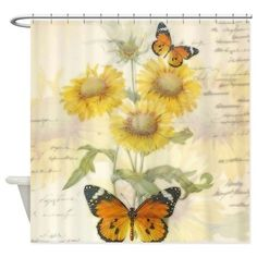 ENJOHOS 3D Sunflower Shower Curtain Flower Design for Bathroom Decor Girls Nursery Home Decoration Polyester Fabric Shower Curtain Single Sunflower, 71x 71