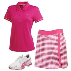 OOTD: Puma Beetroot Ladies Golf Outfit worn by Lexi Thompson - available at Golf4Her.com/puma