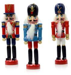 Amazon.com - SET OF 6 WOODEN NUTCRACKER ORNAMENT - Christmas Ornament