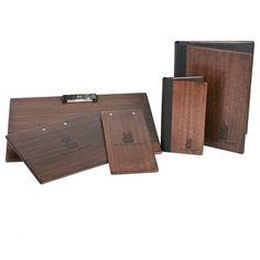 Custom wood binders menu covers collection