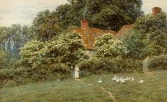 A Cottage At Farringford ~ Helen Allingham ~ (English 1848-1926)