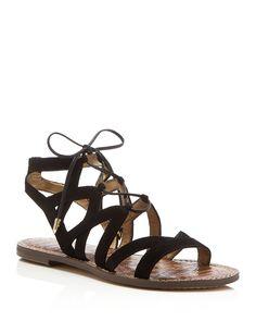 b645f6ad2f3b Sam Edelman Gemma Lace Up Flat Sandals Lace Up Sandals
