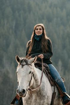 Think this lady is simple? Look again. Our Kate Henley is made from a lush gray fleece with beautiful embroidery accents around the collar and pocket. Not only will this beautiful Henley match everything it will keep you toasty all winter long! Farm Outfits, Cute Cowgirl Outfits, Cowgirl Style, Horse Senior Pictures, Cowgirl Pictures, Horse Girl, My Horse, Beautiful Horses, Beautiful Women