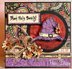 Scrapbook Flair: Pam Bray Designs: Black Hats Society Card with SinCity Stamps