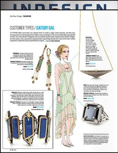 Customer Types: The Gatsby Gal; INDESIGN Magazine, May 2013