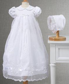 Lauren Madison Baby Girls' Embroidered Christening Gown