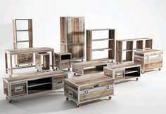 Right up my alley. Recycled Teak Wood Furniture by Karpenter - Roadie