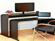 Small Home Office Furniture Computer Desks Chairs 1 Computer Furniture For Home Office Perfect Computer Furniture For Home Office Remodel Small Home Office Furniture, Furniture For Small Spaces, Home Office Decor, Home Furniture, Home Design, Diy Design, Design Ideas, Office Table And Chairs, Desk Chairs