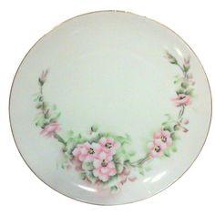 Decorative Arts Friendly Thomas Bavaria Floral Roses Vintage Porcelain Plate Sturdy Construction Plates & Chargers