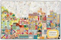 """When I first saw this beautiful quilt made by the amazing JenKingwell, """"my small world"""", splashed all over IG after Spring market, I. Small World, Sampler Quilts, Scrappy Quilts, Quilt Modernen, Foundation Paper Piecing, Quilting For Beginners, Quilted Wall Hangings, Quilting Designs, Quilting Ideas"""