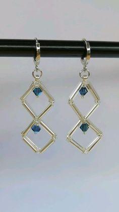 Beaded Jewelry Designs, Handmade Beaded Jewelry, Bead Jewellery, Wire Jewelry, Earring Crafts, Diy Crafts Jewelry, Diy Arts And Crafts, Beaded Earrings, Beaded Bracelets