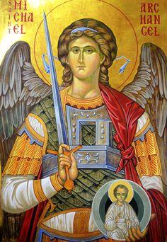 Archangel Gabriel, Archangel Michael, Byzantine Icons, Byzantine Art, Religious Icons, Religious Art, Saint Michael, Russian Orthodox, Guardian Angels