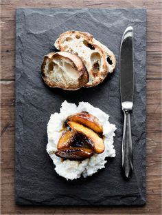 Caramelized Peaches with Ricotta
