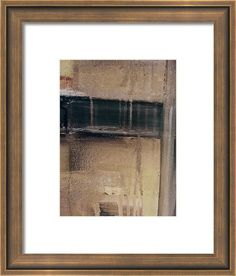 Abstract Painting Framed Print featuring the painting The Door by Britta Zehm