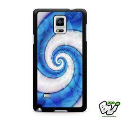 Abstract Blue Swirl Liquid Samsung Galaxy Note 4 Case