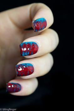 Gel marble nail art