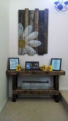 If you are looking for Diy Pallet Wall Art Ideas, You come to the right place. Here are the Diy Pallet Wall Art Ideas. This article about Diy Pallet Wall Art Ide. Pallet Crafts, Diy Pallet Projects, Wood Crafts, Wood Projects, Diy Crafts, Pallet Furniture Projects, Crafts With Pallets, Art Mural Palette, Palette Diy