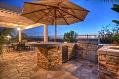 The outdoor goal, wet bar, grill, missing the stone oven, and but great display and layout