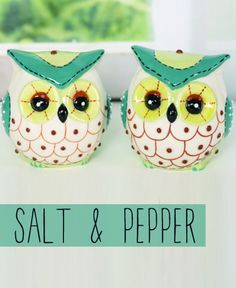 Glass Owl Salt And Pepper Set Www.daisyshoppe.com