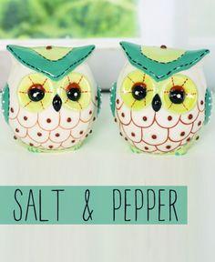 Glass Owl Salt And Pepper Set Www Daisyshoppe Com