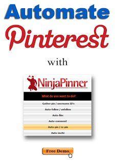 ★♥★ Ninnja #Pinner - Automate #Pinterest ★♥★  A Must Have Tool. Ninnja Pinner is Pinterest automation software: Auto pin/repin, auto like, auto comment, auto invite, auto follow, Keyword targeting etc.   #OMG #WTF #weird #bizarre #Strange #Odd #unusual #Fun #amazing  #Goodies #Stuff #tips #Trick