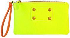 69dc23b10 ShopStyle: Fun Neon Yellow Purse Clutch Yellow Purses, Neon Yellow