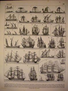 1904 SHIP - BOAT - Vintage Poster - French Illustration