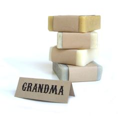 Grandma gift soap set  Vegan Soap Womens Gift Set by RightSoap, $20.00