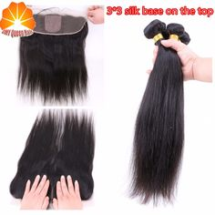 94.05$  Watch here - http://alixl8.worldwells.pw/go.php?t=32644535734 - 13*4 Ear To Ear Silk Base Frontal Closure With Bundles 2/3/4 lot Straight Malysian Human Virgin Hair With Closure Bleached Knots 94.05$