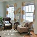 DIY Painted Curtains by @Kim Wilson -Sand & Sisal