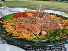 Balsamic and Honey Glazed Salmon with Vegetable Slaw�|�Mennonite Girls Can Cook