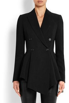 Givenchy|Crepe peplum blazer|NET-A-PORTER.COM