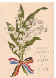Carte Fleur de printemps à la gloire des alliés pour envoyer par La Poste, sur Merci-Facteur !