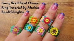 Fancy Seed Bead Flower Ring Tutorial