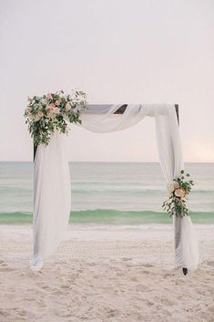 A wedding arch is the crown of a beautiful wedding. What wedding style do you have? See post for wedding ceremony archway that suits. Simple Wedding Arch, Wedding Ceremony Flowers, Wedding Bouquets, Wedding Bride, Wedding Ideas, Arch Wedding, Beach Ceremony, Wedding Beach, Wedding Archways