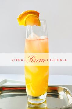 Delicious Orange citrus rum cocktail! Get the tropics back in your head with this rum sipper...      #RedWineDragons #rumcocktail #tropicalrumdrink #rumhighball #tropicaldrinks #rum #rumdrinks Rum Cocktail Recipes, Drinks Alcohol Recipes, Cocktail Drinks, Fun Drinks, Light Alcoholic Drinks, Orange Cocktail, Cocktail Ideas, Signature Cocktail, Drink Recipes