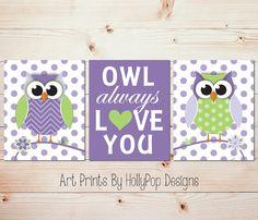 Owl Always Love You Owl Nursery Wall Art Owl by HollyPopDesigns