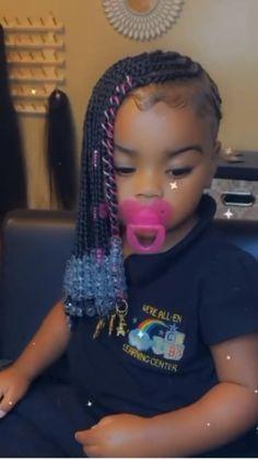 Black Toddler Girl Hairstyles, Black Kids Braids Hairstyles, Easy Little Girl Hairstyles, Little Girl Braids, Baby Girl Hairstyles, Braids For Kids, Girls Braids, Toddler Hair, Cute Little Girls Outfits