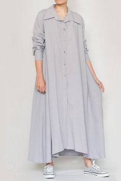 Linen Ayni Dress by LINUM - Linen Style-2 Linenstyle Duster Coat, Shirt Dress, Nature, Jackets, Shirts, Clothes, Dresses, Style, Fashion