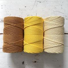 Twisted Macrame Cotton Rope • Warm pallette • 1.5 mm – ChompaHandmade