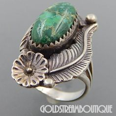 Green Dyed Emerald Oxidized Sterling Silver Overlay Ring Size 9.5 US Fantasy Handmade Jewelry