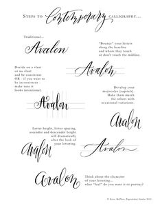 steps to contemporary calligraphy