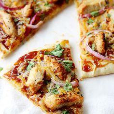 Skinny Chicken Enchilada Flatbread | Weight Watchers Recipes --- http://tipsalud.com -----