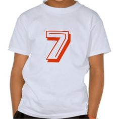 Number 7 Shirt Heart Clothing Accessories 80th Birthday Funny