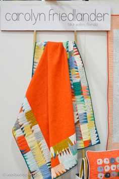 Quilt by Carolyn Friedlander....such a punchy quilt and of course....my orange!  So....