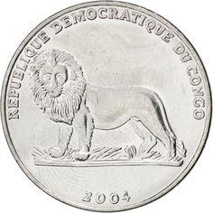 CONGO, DEMOCRATIC REPUBLIC, Franc, 2004, KM #158, MS(63), Nickel Clad Steel,...