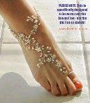 beautiful barefoot sandal Great for a beach wedding!